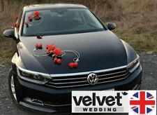 Luxury Luxury Wedding Car Decoration Kit Red roses FREE door ribbons