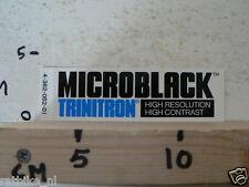 STICKER,DECAL MICROBLACK TRINITRON HIGH RESOLUTION HIGH CONTRAST