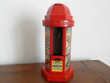 ANCIEN KIOSQUE Rouge DISTRIBUTEUR TIRELIRE de CHOCOLATS MENIER