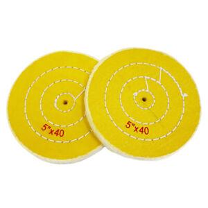 "2 Jewelers Buff Yellow Treated Polishing Buffing Wheel 5"" Jewelry Buffer 40 Ply"