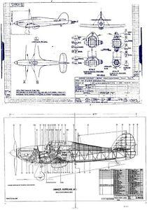 Hawker Hurricane Original Blueprint Plans WW2 period RARE 450 Drawings XXL Set