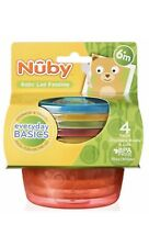 Nuby Stackable Bowls With Lids X4 Baby Bottle Feeding Supplies Teats Bn