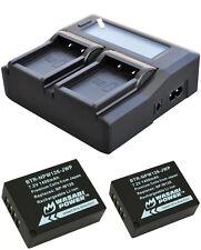 2X Wasabi Batteries 1400mAH + LCD Charger for Fuji Camera X-A1 A2 A3 A10 E1 E2