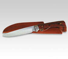 "LINDER GERMAN SOLINGEN HUNTING KNIFE / PAKKA WOOD / 4.57""  BLADE **NEW** 440"