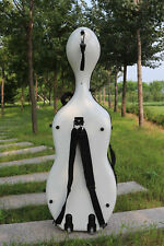 New cello case 4/4 high strength Carbon Fiber Cello Box 3.6kg with wheel #35