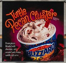 Dairy Queen Promotional Poster For Backlit Menu Sign Pecan Cluster Blizzard dq2