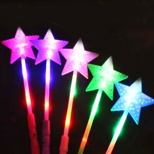 Funny LED Magic Star Wand Flashing Light up Glow Sticks Christmas Party Concert/