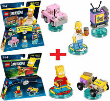 Lego Dimensions Homer Simpson Level Pack & Bart Fun Pack 132pcs
