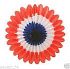 6 4th of July PATRIOTIC Party Hanging Decoration MINI Red White Blue TISSUE FANS
