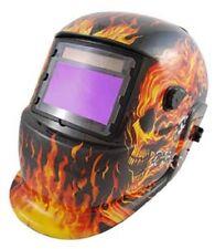 Titan 41266 Flame Solar Powered Welding Helmet With Auto Dark 9-13