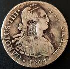 1801 8 reales Mexico Carolus IIII PORTUGAL COUNTERSTAMP 870 Reis VERY NICE!!