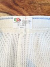 Vintage Fruit Of The Loom Thermal Underwear White Size Small