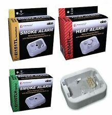 Aico Ei156TLH Ei151TL Ei154TL Ei157 Smoke Heat Alarm Base Mains Battery Powered