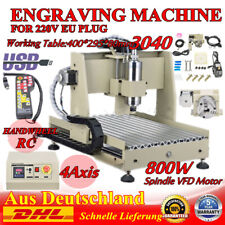 USB 4 Axis 3040 CNC Router Engraver Machine grabador fresado Perforación 800W+RC