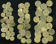 lot 90 coins France before the euro 30 X 5 cents 30 X 10cents 30 X 20 cent