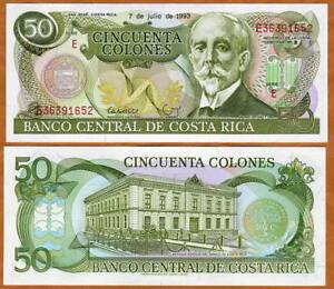 Costa Rica, 50 Colones, 7-7-1993, P-257 UNC -> the last