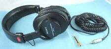 SONY MDR-V6 Studio Monitor Dynamic Stereo Headphones Black - Working, Need Pads