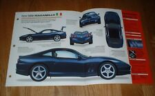 ★★1998 FERRARI 550 MARANELLO SPEC SHEET BROCHURE PHOTO PRINT INFO 98 99 00★★