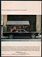 1965 LINCOLN CONTINENTAL Black 4-door Sedan Classic Car Photo AD