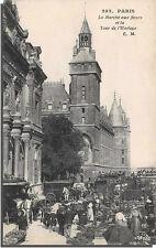 CPA 75 - PARIS - Le marché aux fleurs et la tour de l' horloge
