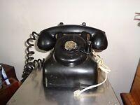VINTAGE LEICH HAND CRANK DESK INTERCOM TELEPHONE