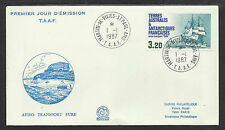 TAAF FRENCH ANTARCTIC 1987 EURE TRANSPORT SHIP 1v FDC
