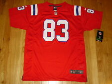 NEW 2012 NIKE WES WELKER RED NEW ENGLAND PATRIOTS YOUTH NFL REPLICA JERSEY SZ XL
