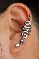 Solid Sterling Silver SNAKE Ear Cuff