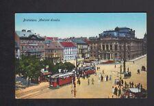BRATISLAVA (RUSSIE / SLOVAQUIE) TRAMWAYS au THEATRE trés animé début 1900