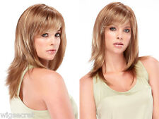 Angelique Long Medium Jon Renau Large Cap Straight Blonde Brunette Red Wigs