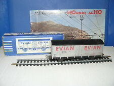 """TRAIN ECHELLE HO  HORNBY  WAGON DE MARCHANDISES  """"EVIAN""""  SNCF  échelle 1/87 ème"""