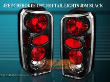 97-01 JEEP CHEROKEE TAIL LIGHTS BLACK 98 99 00 EURO