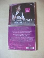 Justin Bieber - Live & Direct - Oslo Norwegian CD+DVD Free P&P.