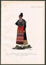 Trento. Donna di Castel Tesino. Costume di Emma Calderini. Anni '30 del '900