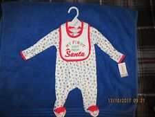 NEW Carter's® 2-piece Cotton Christmas Sleep & Play Coverall & Bib Set - Newborn