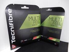 2 NEW Packages of Tecnifibre Multifeel Tennis String 1.30 mm 16 Gauge Rose Pink