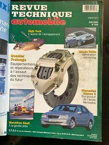 Revue Technique Automobile RTA 6/2000; Dossier Freinage/ Skoda Fabia/ Mercedes