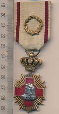 ROMANIA medal KINGDOM Romanian SANITARY merit ORDER Red CROSS WW I 1 3rd C MEDIC