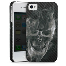 Apple iPhone 4 Premium Case Hülle Cover - Smoke Skull Carbon