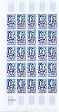 FRANCE  1/2  FEUILLE N°1292 ANCIENS COMBATTANTS, neuve xx.TRES BELLE. J17