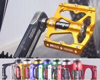 "NEW Road BMX MTB Bike Bicycle 3 sealed Bearings Pedals flat Platform Pedal 9/16"""