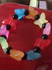 Butterfly Bracelet, PAPILLONS, noir, perle, Bracelet, Enfants