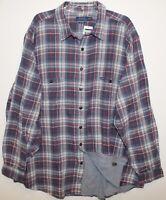 Polo Ralph Lauren Big Tall Mens Blue Red Plaid Lined Heavy Flannel Shirt NWT 3XB