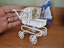BABY CARRIAGE/PRAM   -   METAL -   DOLL HOUSE MINIATURE