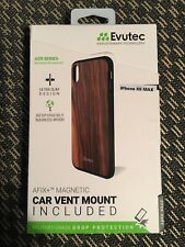 for IPHONE XS MAX Case Evutec Real Wood Free Vent Mount