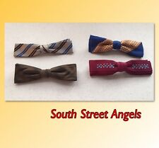 MENS VINTAGE 1960's BOW TIES   ~ LOT OF 4   ~ Ormond / Arrow / Kalypit / Royal