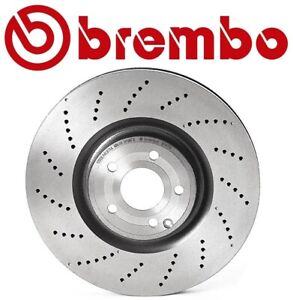 For Mercedes-Benz W218 CLS550 Front Cross Drilled Disc Brake Rotor 360mm Brembo