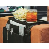 Sofa Arm Rest Pocket Organiser Snack Tray, Tv Remote Control, Phone, Dvd TIDY