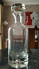 Stunning vintage glass decanter with Bubble in base. 368