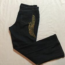 Drama Gold Metallic Angel Wings Jeans Size 14 Sexy Plus